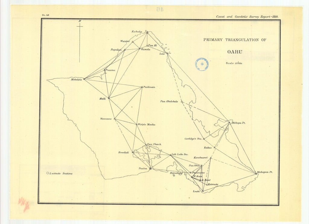 Primary Triangulation Of Oahu