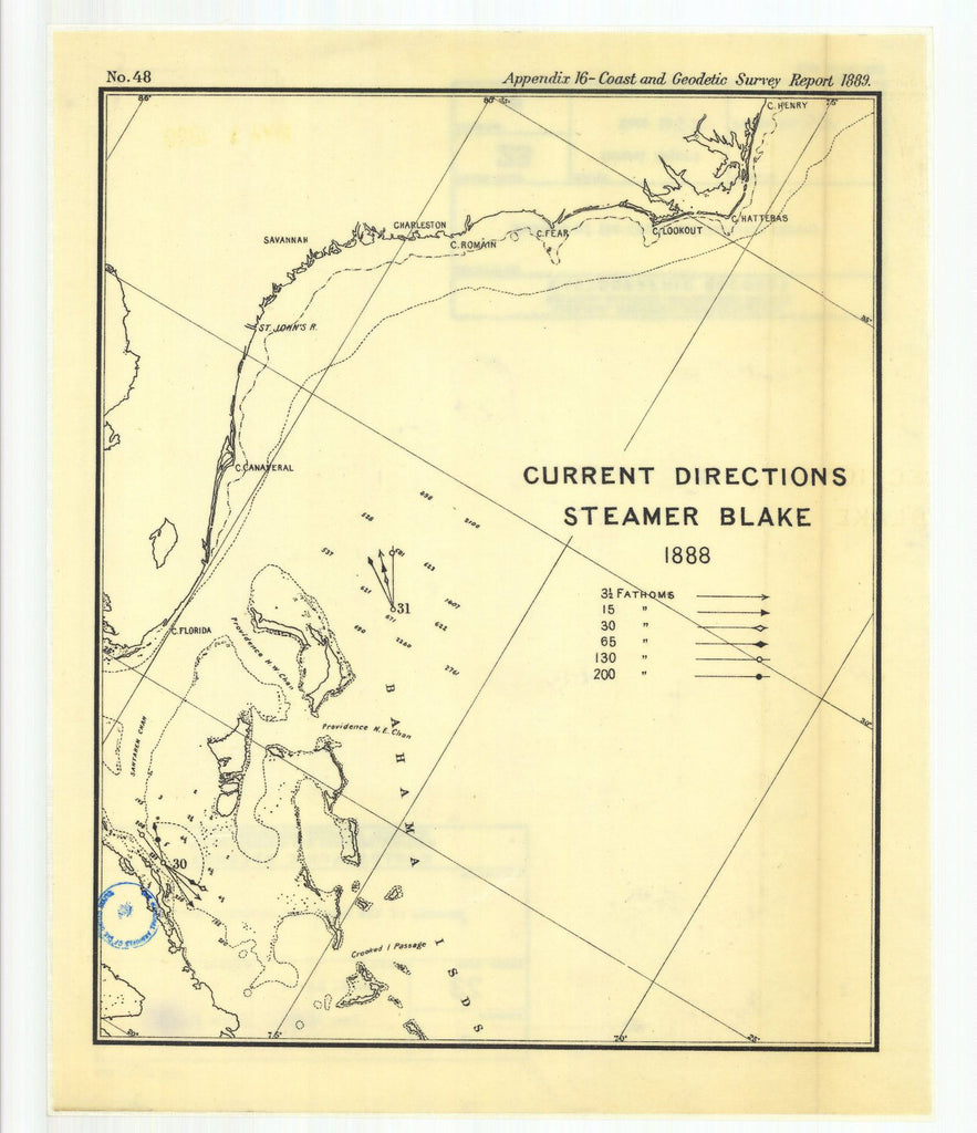 Current Directions, Steamer Blake, 1888