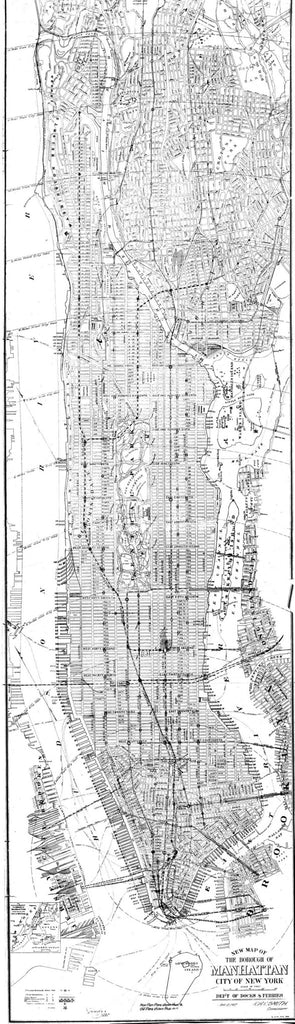 Map Of New York Poster.New Map Of The Borough Of Manhattan City Of New York Print