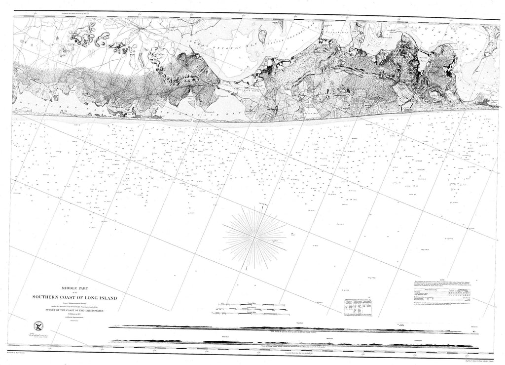 Nautical Chart Of The Southern Part Of Long Island