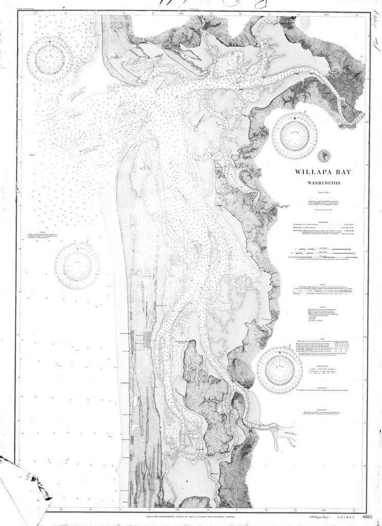 Navigation Chart Of Willapa Bay