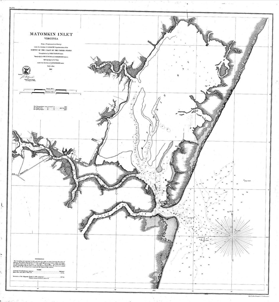 Navigation Chart For Matomkin Inlet