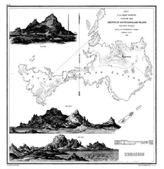 Sketch Of South Farallon Island, Pacific Ocean