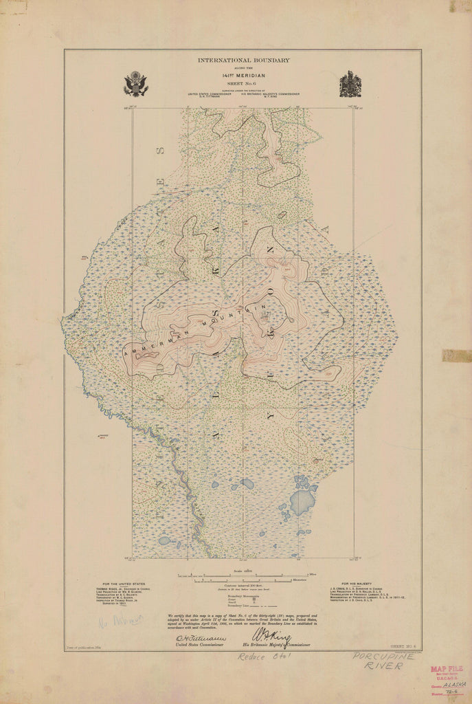 International Boundary, Along The 141st Meridian, Sheet No. 6