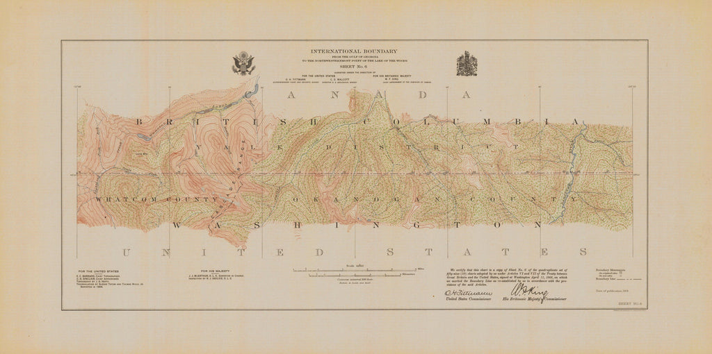 International Boundary, From The Gulf Of Georgia To The Northwestern Point Of The Lake To The Woods, Sheet No.6