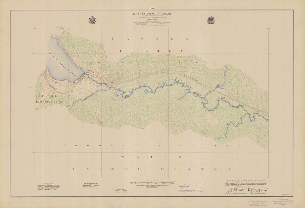 International Boundary, From The St. Lawrence River To The Source Of The St. Croix River, Sheet No. 41