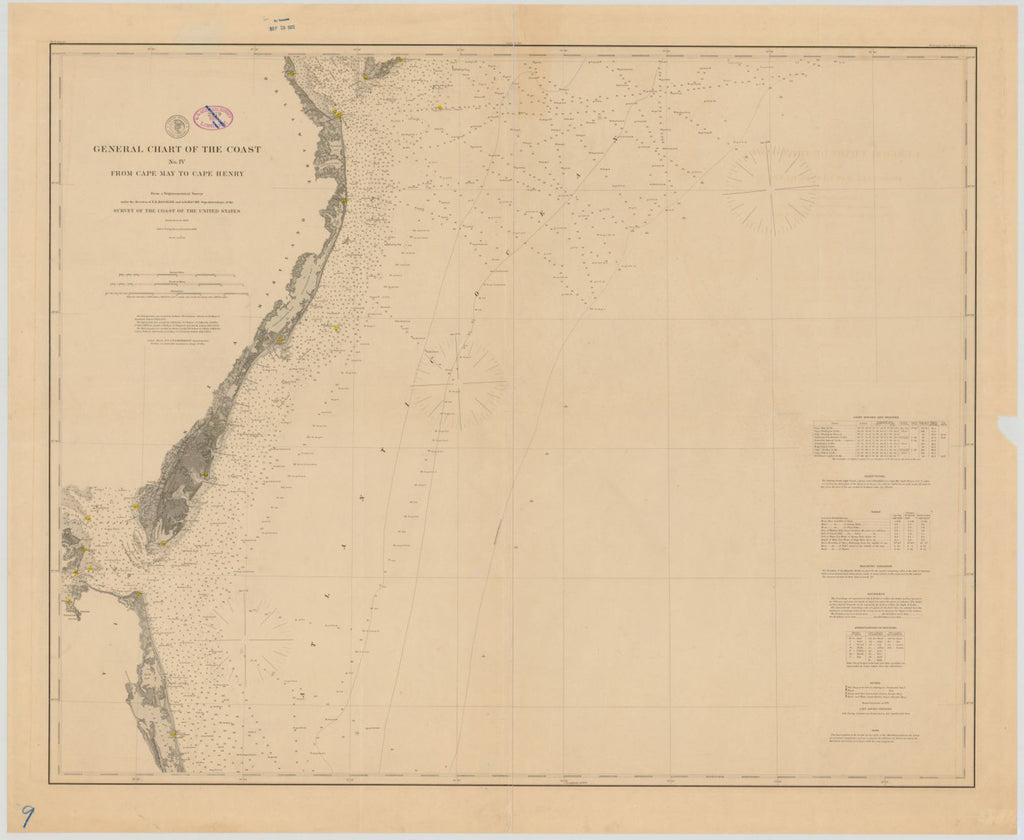 General Chart Of The Coast No. Iv From Cape May To Cape Henry