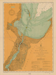 Chart Of Head Of Green Bay Including Fox River Below Depere, Wisconsin