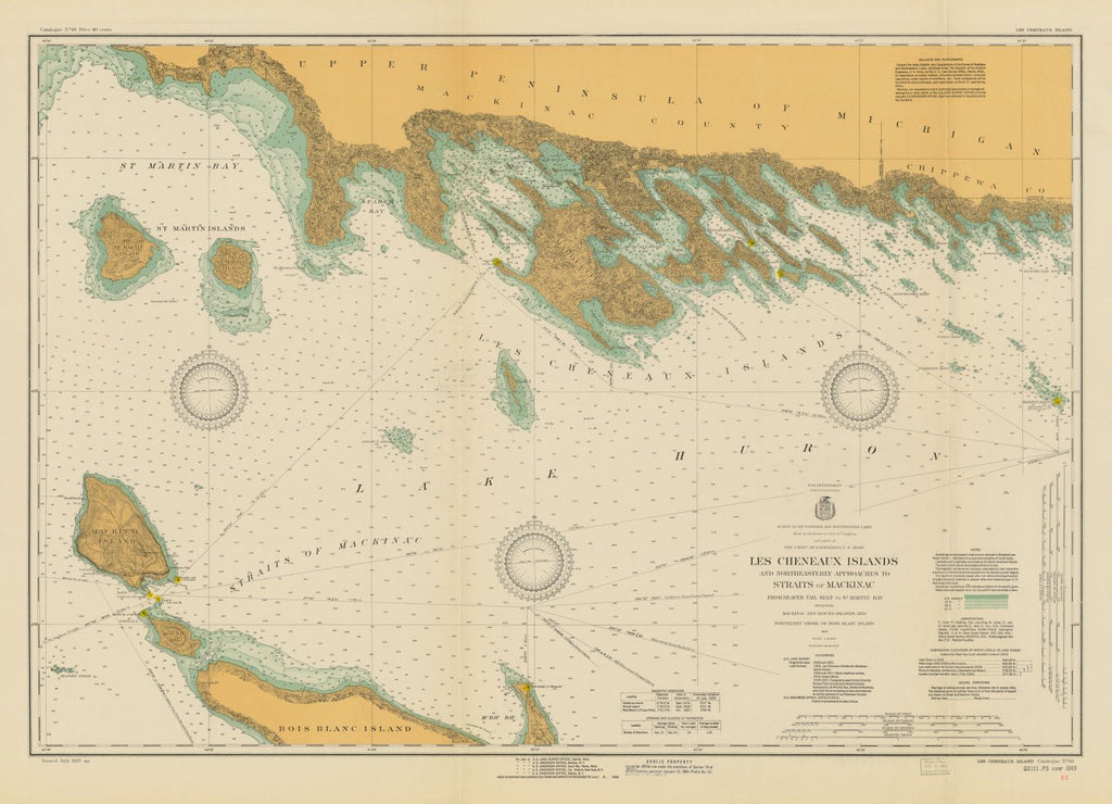 Les Cheneaux Islands And Northeasterly Approaches To Straits Of Mackinac, From Beaver Tail Reef To St. Martin Bay Including Mackinac And Round Islands And Northerly Shore Of Bois Blanc Island