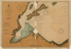 Chart No.2 Of Apostle Islands, Including Chequamegon Bay And South Coast Of Lake Superior From Red Cliff To Oronto Bay.