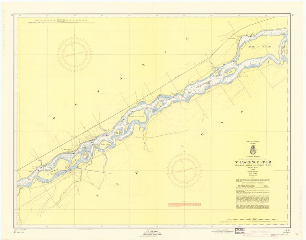 St. Lawrence River, Richards Landing To Leishman Pt., N.y.