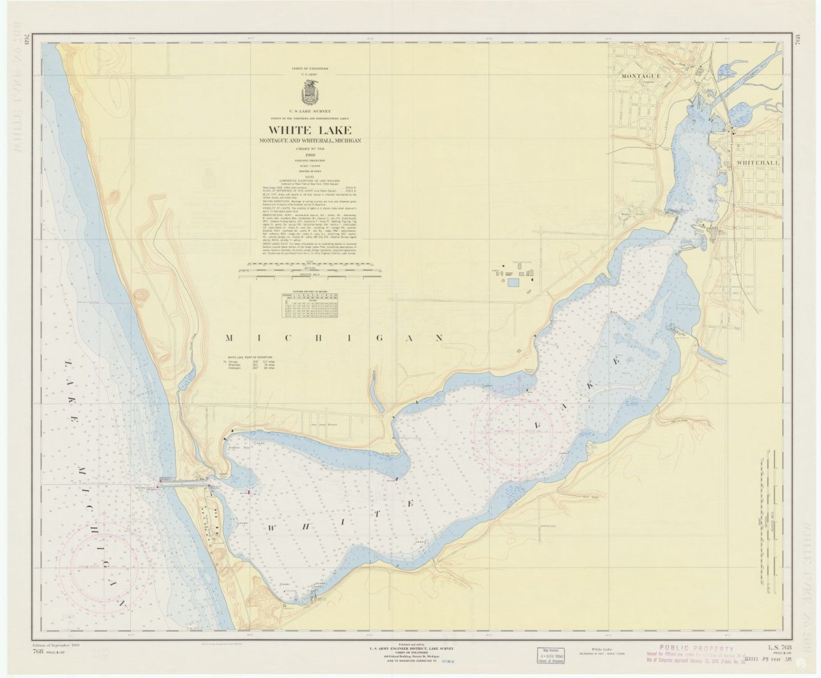 Print Of White Lake Montague And Whitehall Michigan Poster On