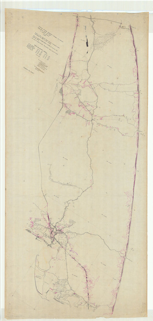 Tracing Showing Topographic Changes On Original Topographic Sheet No 260