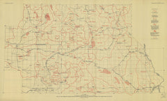 Map Of The Mohave Region Showing Boundaries Of Drainage Basins And Character Of Plays
