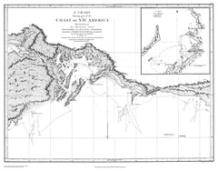 Chart Shewing Part Of The Coast Of N.w. America - By George Vancouver