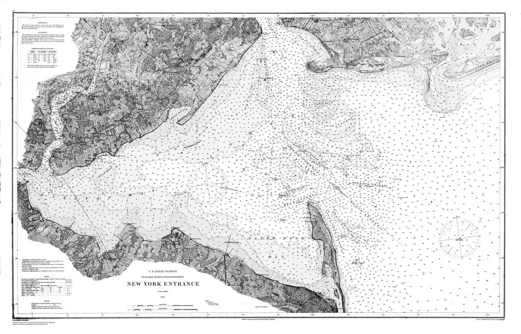 Navigation Chart For New York Harbor Entrance