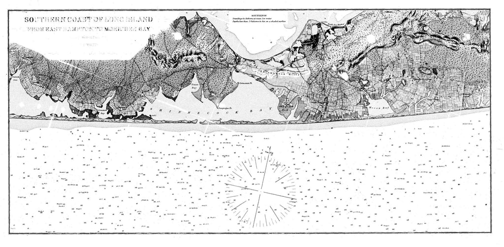 Navigation Chart Of The Southern Coast Of Long Island From East Hampton To Moriches Bay