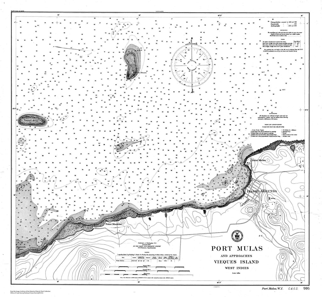 Port Mulas And Approaches Vieques Island, West Indies