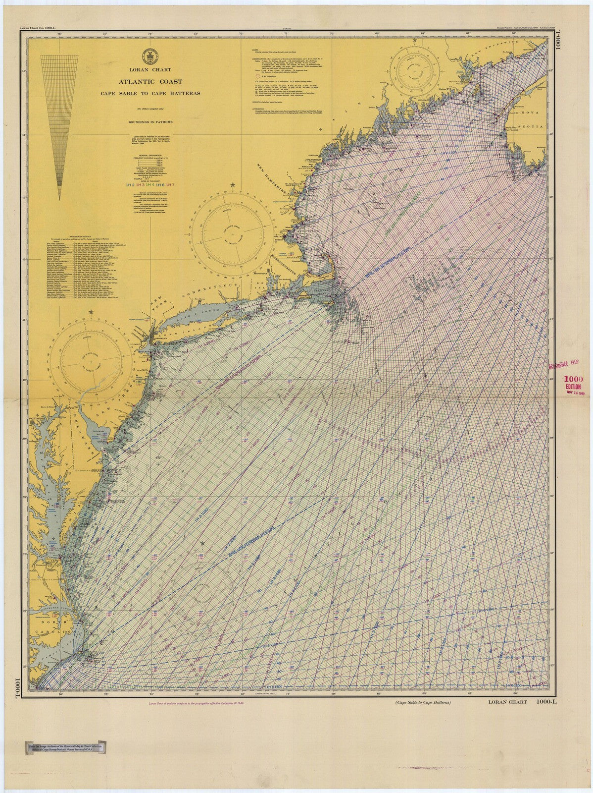 Print Of Cape Sable To Cape Hatteras Poster On Vintage Visualizations