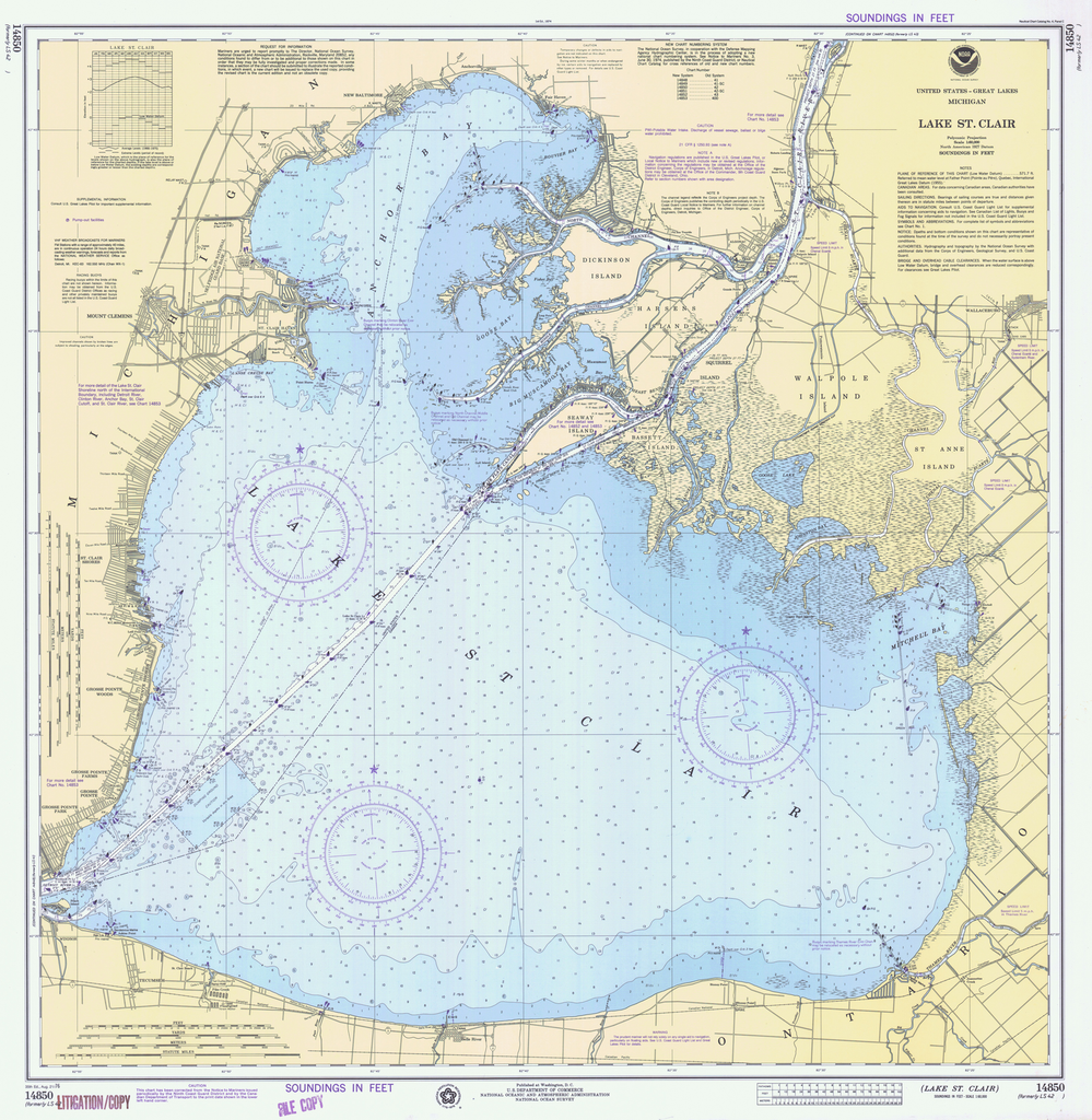 Lake St Clair Map Print of Lake St Clair Poster on Vintage Visualizations