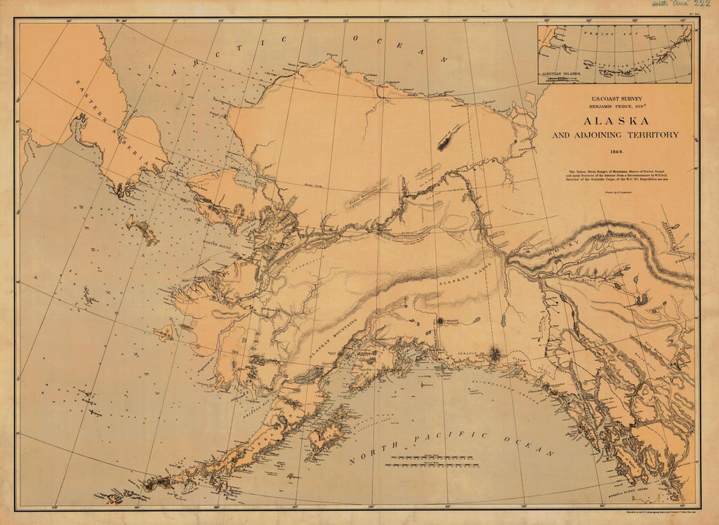 Print Of Alaska And Adjoining Territory Poster On Vintage Visualizations - Us-map-1869