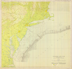 Northeastern United States Showing Relation Of Land And Submarine Topography