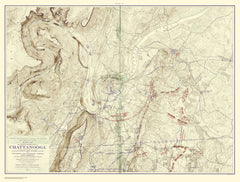 Chickamauga Battle, 1901 Ed., Movements From Chick. To Rossville And Chattanooga, Sept 20 To 23,1863
