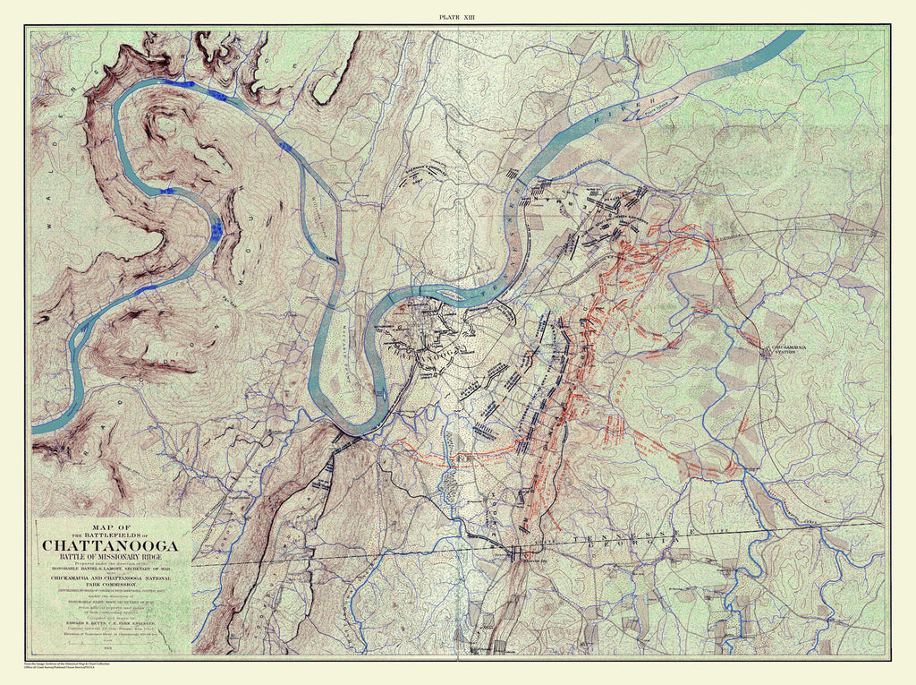 Chickamauga Battle, 1901 Ed., Battle Of Missionary Ridge, Nov 25, 1863
