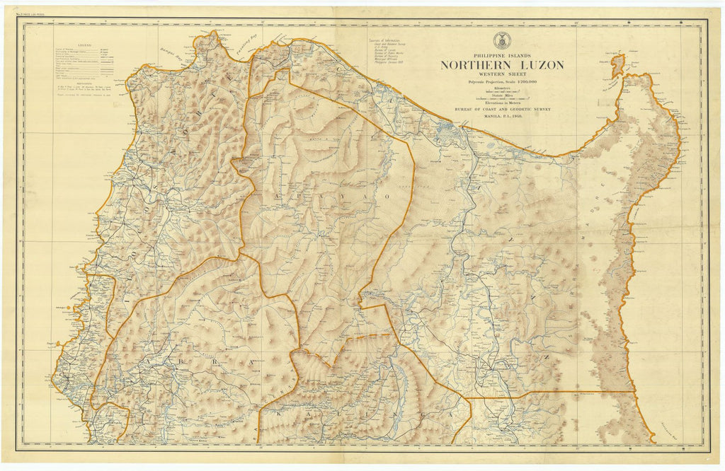 Manila Philippine Islands Northern Luzon Western Sheet