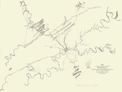 Map Of Knoxville - 1863