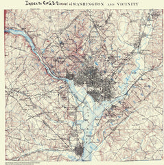 Index To C & Gs, Survey Of Washington And Vicinity