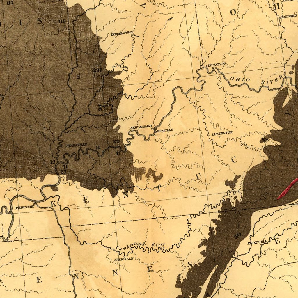 Print of Coal Fields of the US 1870 Poster on Vintage Visualizations