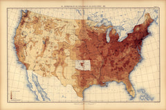 Distribution of the population of the United States: 1890