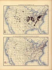 Production of coal per square mile: 1890