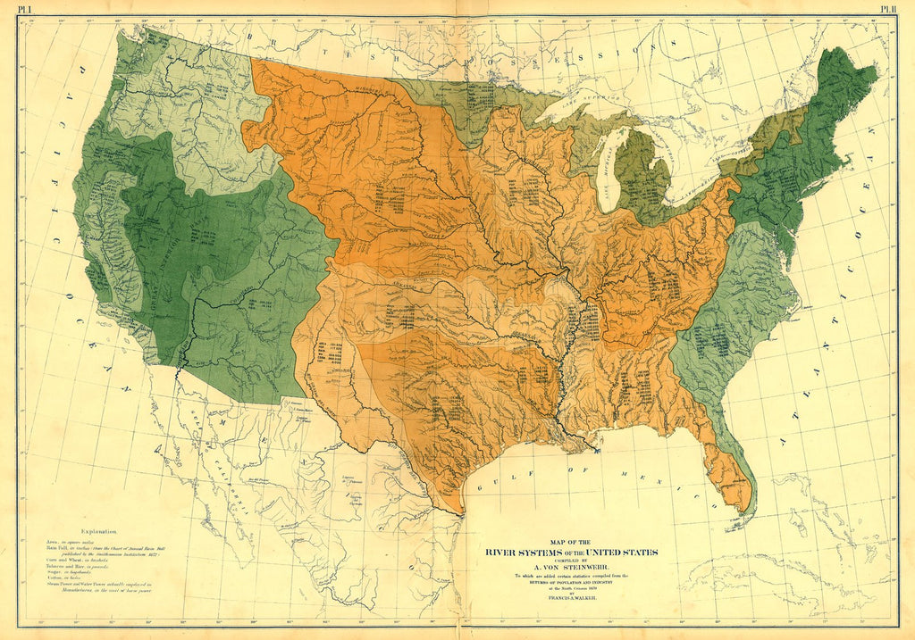 River systems of the U.S.