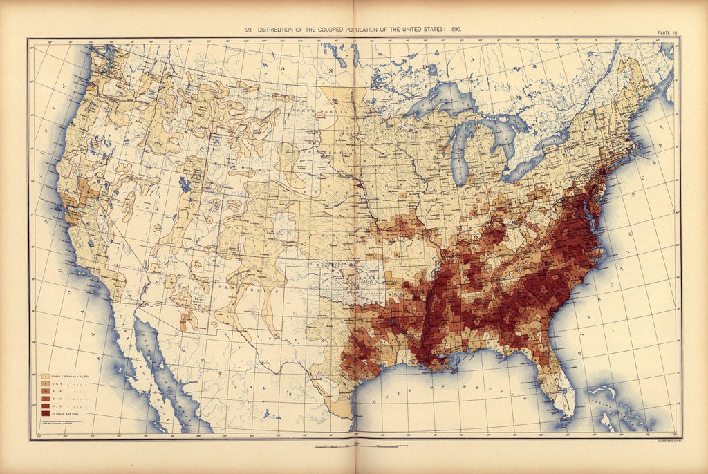 Distribution of the Non-white population of the United States: 1890