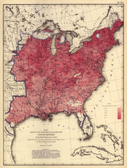 Death by Consumption Map, 1870