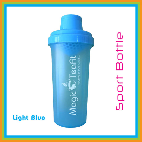 Magic Teafit Light Blue Bottle | Shaker Bottle | BPA Free | Dishwasher Safe |Leak Proof | Easy Grip | Multiuse | 25 oz | 700 ml | Blue | Light Blue Bottle | Tea bottle | Gym Bottle | Sport Bottle |