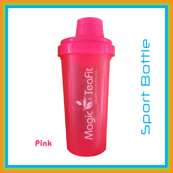 Magic Teafit Pink Bottle | Shaker Bottle | BPA Free | Dishwasher Safe |Leak Proof | Easy Grip | Multiuse | 25 oz | 700 ml | pink | Pink Bottle | Tea bottle | Gym Bottle | sport bottle |