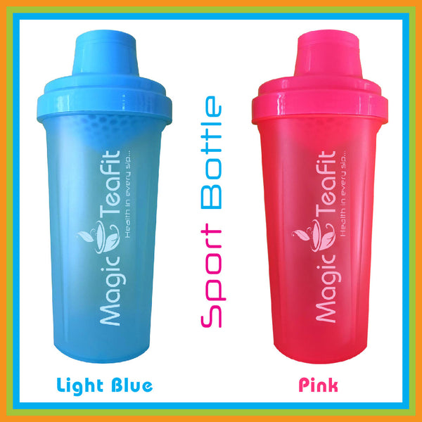 Magic Teafit Light Blue and Pink 2-pack Bottle | Shaker Bottle | BPA Free | Dishwasher Safe |Leak Proof | Easy Grip | Multiuse | 25 oz | 700 ml | Blue | Light Blue Bottle | Tea bottle | Gym Bottle | Pink | Pink Bottle | sport bottle |
