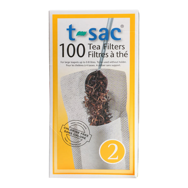 Tea Filter Bags by T-Sac Size 2 - Box of 100