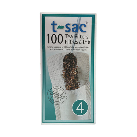 Tea Filter Bags by T-Sac Size 4 - Box of 100