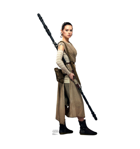 Rey Star Wars Force Awakens Cardboard Standup
