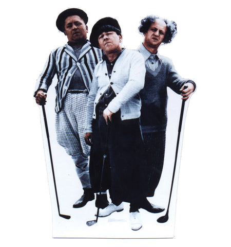 Three Stooges Golf Cardboard Standup