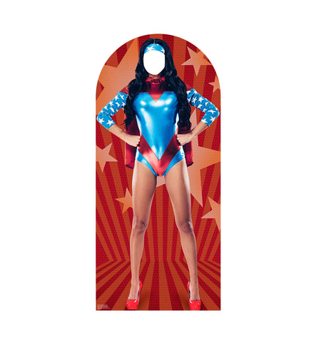 Woman Female Superhero Cardboard Standin