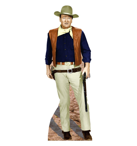 John Wayne Rifle At Side Cardboard Standup