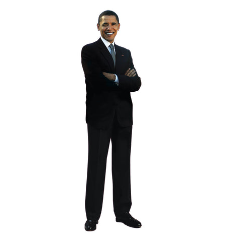 President Barack Obama Arms Crossed Cardboard Standup
