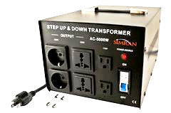 Simran AC-5000A  Automatic 110V to 220V Voltage Transformer Converter 5000 Watt