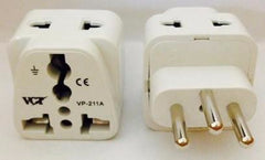 VP 211W Two Outlet Grounded Plug Adapter for Switzerland