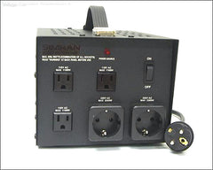 2300 Watts Step Up/Down Transformer With German/Euro Plug